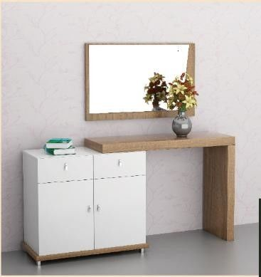 Melamine Finish Home Room Furniture Dresser Particle Board Material With Mirror