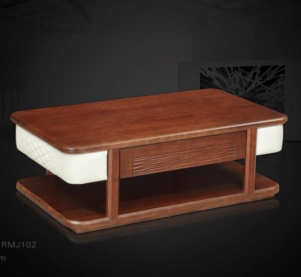 Solid Wood Living Room Furniture Coffee Table Rosewood Color Eco - Friendly Material